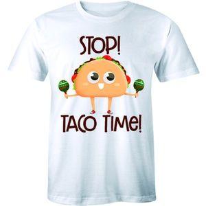 Stop Taco Time Cinco Mexican Taco Lover T-shirt